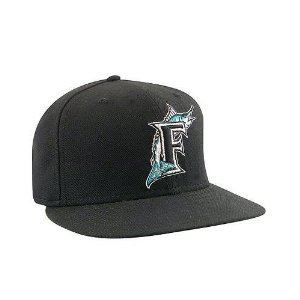 New Era Florida Marlins Home Performance Fitted Cap - Black c596d5aef56