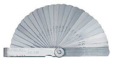 General Tools 230 Economy Feeler Gage, 26-Leaf with Metric and English ()