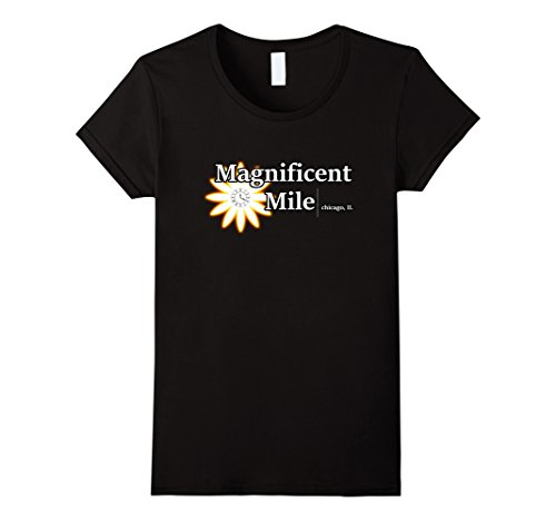 Womens Magnificent Mile Chicago IL T-Shirt The Mag Mile Tee XL Black Magnificent Mile Chicago