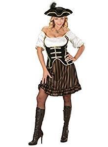 Pirate Captain Women's Costume Fantasy Film Fancy Dress (l)