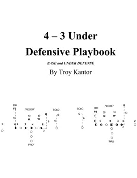 4 3 Under Defensive Playbook Base And Over Split Defense Volume 2 Kantor Troy Edward 9781548487263 Amazon Com Books