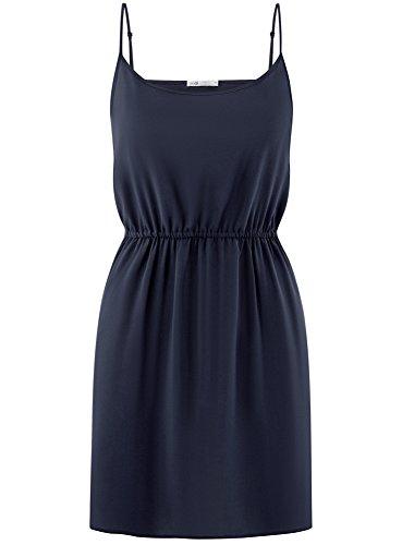 Robe Taille Femme oodji et avec Ultra Bleu lastique d't 7900n Bretelles xrxXwEAn