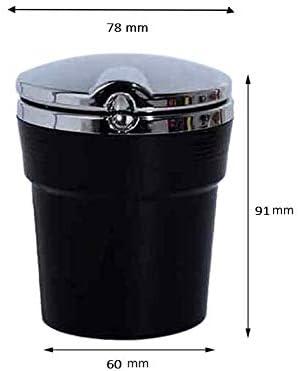 Schwarz QKSZ Auto Aschenbecher Auto LED Aschenbecher Halter Tasse Zigarettenasche Box f/ür Peugeot 206 207 3008 2008 408 508 4008 F/ür Citroen C3 C4 C5 C2 201