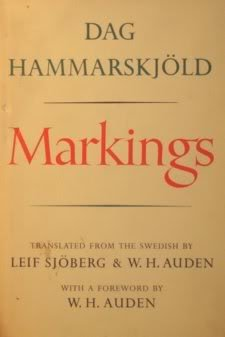 DAG HAMMARSKJOLD - MARKINGS