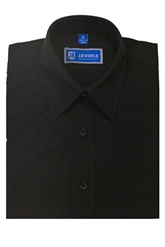 Boys SHORT Sleeve Dress Shirt 20 - Black/8