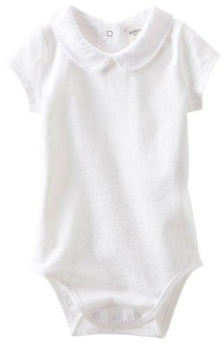 OshKosh B'gosh Jersey Knit Bodysuit (Baby) - White-12 Months