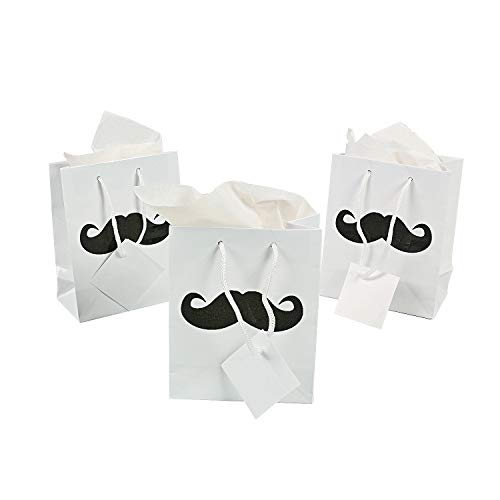 Small Mustache Party Gift Bags - Party Supplies