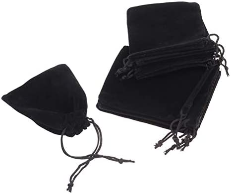 [해외]FRCOLOR 쥬얼리 파우치 악세사리 수납 건 착 봉투 벨 루어 조 선물 가방 캐디 7x9cm 10 매 세트 블랙 / FRCOLOR Jewelry Pouch Accessories Storage Purse Bag Velour Gift Bag Accessory 7x9cm 10pcs Black