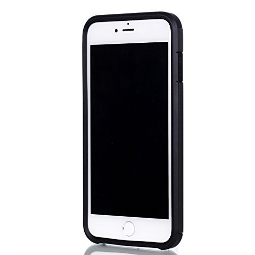 "Hülle Cover iPhone 7 Plus, IJIA Ultra Dünnen Weich TPU und Harte PC (2 in 1) Silikon Hülle Handyhüllen Schutzhülle Handyhülle Schale Case Tasche für Apple iPhone 7 Plus (5.5"") + 24K Gold Aufkleber (Gr"