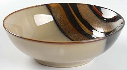 Amazon.com | Sango Avanti Black Soup/Cereal Bowl, Fine China ...