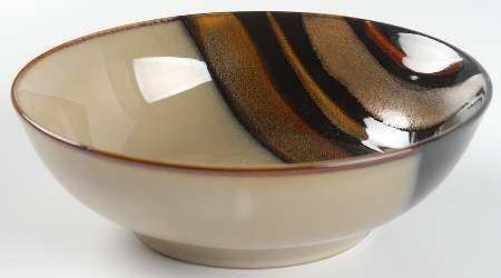 Sango Avanti Black Soup/Cereal Bowl, Fine China Dinnerware
