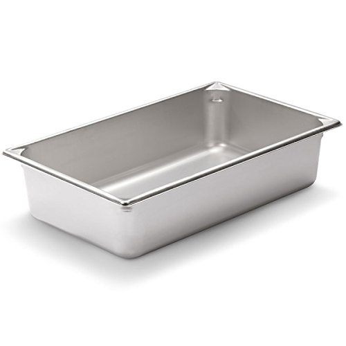 "Vollrath (30042) 4"" Deep Super Pan V Stainless Steel Full-Size Steam Table Pan"