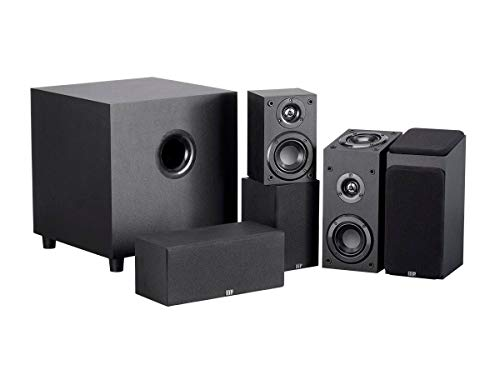 Monoprice 133831 Premium 5.1.2-Ch. Immersive Home Theater System - Black with 8 Inch 200 Watt Subwoofer (2-1 Channel Home Theater System With Subwoofer)