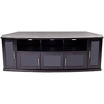 Amazon Com Plateau Newport80b Corner Wood Tv Stand With
