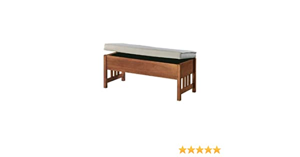 Awesome Amazon Com Mission Style 40W Storage Bench 40W Light Gmtry Best Dining Table And Chair Ideas Images Gmtryco