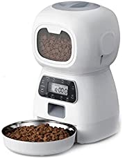 Automatic Cat Feeder-2.4G WiFi App Control Smart Pet Feeder, 4 Liters Automatic Small Dog Dry Food Dispenser With Programmable Timer