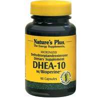 Natures Plus DHEA-10 with Bioperine – 10 mg, 90 Vegetarian Capsules – Anti Aging Supplement, Mood and Energy Booster, Anti Inflammatory – Gluten Free – 90 Servings For Sale