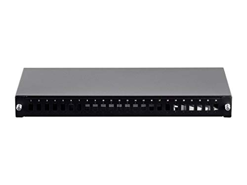 Monoprice Premium Sliding Fiber Optic Patch Panel - 19In with Rall for SC, Fc, ST, Lc Adapter 1U
