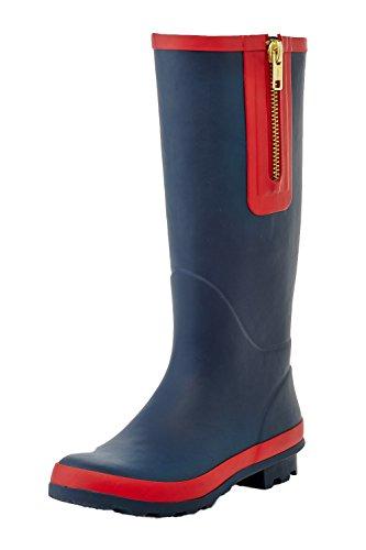 zipper rain boots - 9