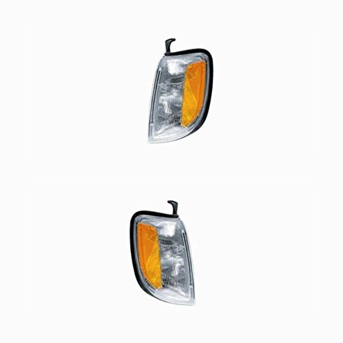 2000-2001 Nissan Xterra & 1998-1999-2000 Frontier Pickup Truck Park Corner Light Turn Signal Marker Lamp Pair Set Right Passenger AND Left Driver Side (1998 98 1999 99 2000 00 2001 01) (Nissan Turn Signal)