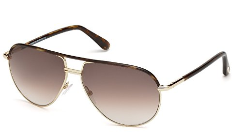 Tom Ford M-SG-2003 FT0285 Cole 52K-Rose Gold-Dark Havana Mens Sunglasses, 61-13-135 - Aviator Tom Ford