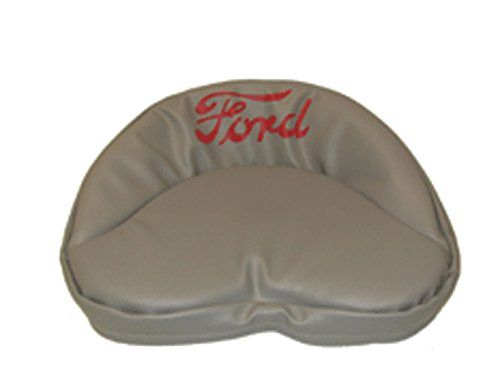 R4535 Ford Tractor Pan Seat Cover Cushion Gray with Red Logo - 19 Inches - Made in the USA