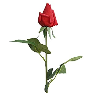 XGao Artificial Rose 1 Head Faux Flowers Fake Western Plants Real Touch Silk Cloth Flower for Vases Wedding Bride Bouquets Garden Home Office Decor Party Centerpieces Arrangement Decoration (D) 1