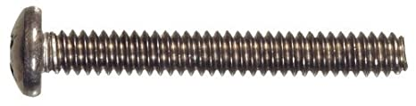 The Hillman Group 828602 Stainless Steel Pan Head Phillips Machine Screw 1//4-Inch x 3-Inch 50-Pack