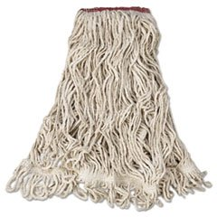 Super Stitch Blend Mop Heads, Cotton/Synthetic, White, Large