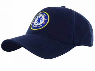 Chelsea FC Crest Baseball Cap - Navy Blue - Adjustable Velcro Back - Adult Baseball Cap - Features Team Crest in Full Color - Crest Baseball Cap - Great for any Chelsea FC Soccer Fan
