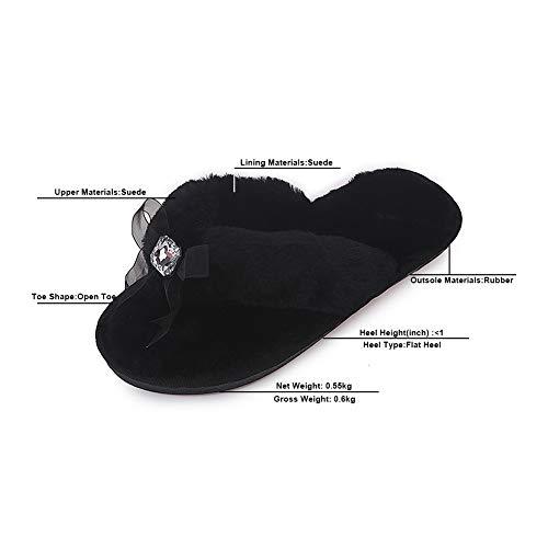 Plat Ouvert LJXY Bout Grande Premier Taille Soirée Automne Plateforme Club 08021 Black KJJDE Suede Hiver Mariage Pantoufles Fête De Et vwx8Y1q