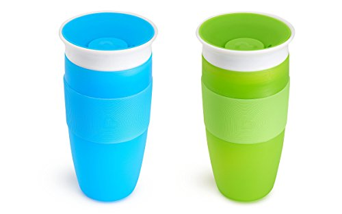 Munchkin 14 oz Miracle 360° Sippy Cup -2 Pack- Blue/Green