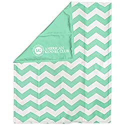 American Kennel Club AKC Medium Reversible Chevron Print Cooling Mat Pet Bed, Green