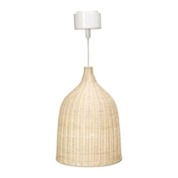 IKEA LERAN - Lampadario in rattan: Amazon.it: Illuminazione