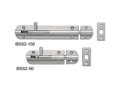 Sugatsune Barrel Bolt - Sugatsune BSS2-90: 90mm Long-Throw Spring Loaded Barrel Bolt - Stainless Steel