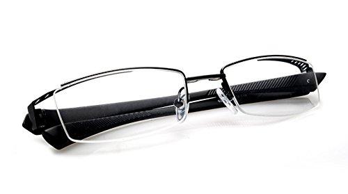 63ab39d696a Agstum Mens Half Rimless Myopia Glasses Frame Magnetic Clip On ...