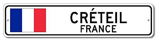 Créteil, France - French Flag Street Sign - Aluminum 4