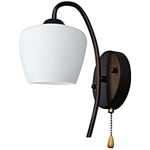 LIN XIAO HAO Mayu Wall Lamp With Pull Chain Switch E27 Retro Simple LED  Living Room