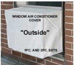 Window Air Conditioner Covers - To keep out cold drafts - Outside Window/thru Wall Cover - 24W, 21H, 21D - White