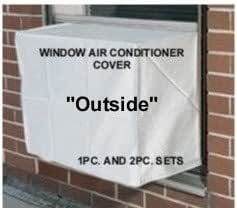 Window air conditioner covers to keep out cold drafts outside window thru wall for Window air conditioner covers exterior