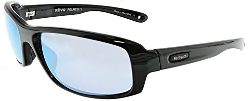 Revo Re 4064x Camber Soft Polarized Rectangular Sunglasses, Black Blue Water, 62 - Sunglasses Prescription Revo Online