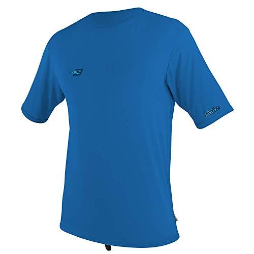 (O'Neill Wetsuits Youth Premium Skins Short Sleeve Sun Shirt, Ocean, Size 16)