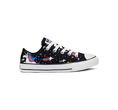 Converse Girls' Chuck Taylor All Star Unicons Sneaker, Black/Mod Pink/White, 10.5 M US Little Kid ()