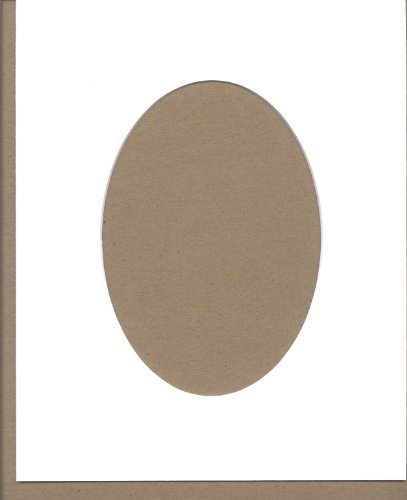 - Pack of 5 8x10 White Oval Opening Picture Mats Bevel Cut for 5x7 Pictures