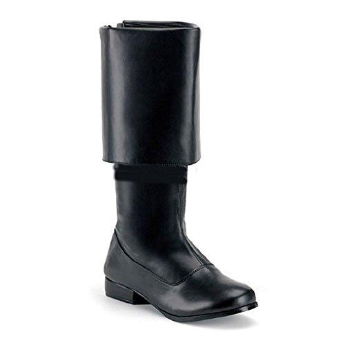 PIR-100 (L 12-13, Black) Buccaneer Boots