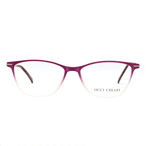 Eyewear Frames-OCCI CHIARI-Rectangular Eyeglasses Frame with Clear - Eyewear Frames