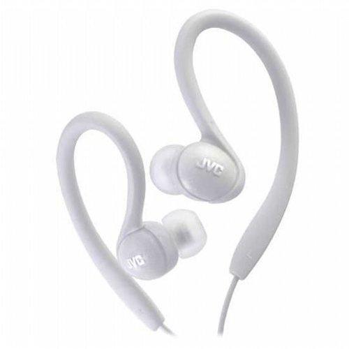 White Ear Headphones Inner - JVC HAEBX85W Inner Ear Sports Clip Headphone (White)