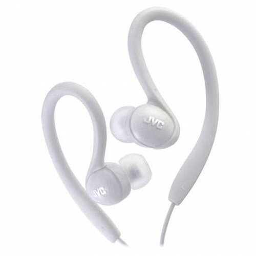 JVC HAEBX85W Inner Ear Sports Clip Headphone White