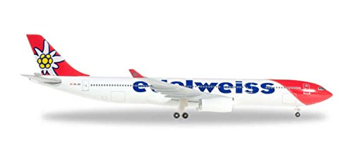 (Herpa 500 Scale HE528870 1-500 Edelweiss Air A330-300 New Livery)