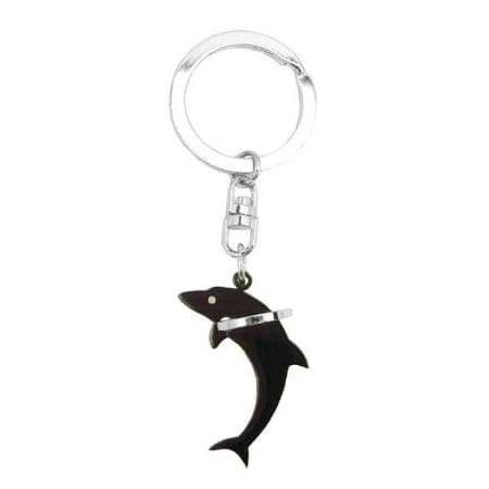 So Chic Bijoux© Llavero delfín negro Saute-Aro de anilla de ...